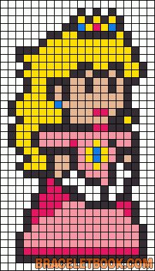 Princess Peach perler bead pattern