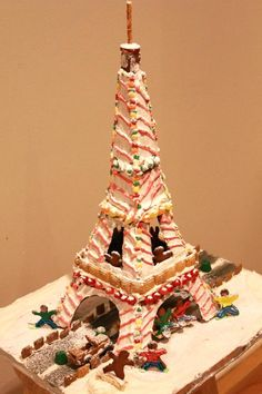 """""""Lighted Gingerbread Eiffel Tower"""" by Kevin A. (Landmark)"""