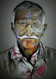 #chalk #pastels #drawing #portrait