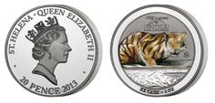 2013 Treasures of India 1oz Silver Tiger coin minted by The East india Company