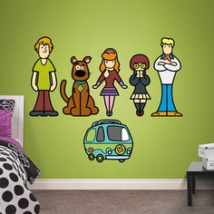 Scooby-Doo Pop Art Collection Fathead – Peel & Stick Wall Decal | Scooby-Doo Decor