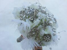 winter broach bouquet