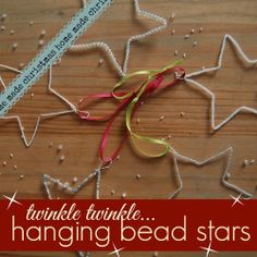 bead stars Christmas decorations