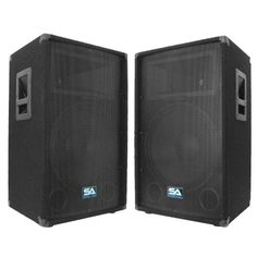 Seismic Audio Pair of 15 PA DJ Speakers 700 Watts PRO Audio Mains Monitors Bands Karaoke Churches Weddings *** You can get additional details at the image link. Pro Audio Speakers, Sound Speaker, Dj Pro, Thing 1, Black Carpet, New Bands, Karaoke