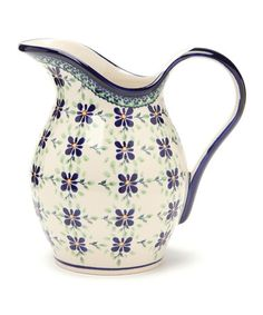 Take a look at this Navy Floral Pitcher by Family Traditions on #zulily today!