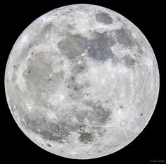 The supermoon and the ISS.