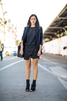 How to rock black in the summer. Australia Fashion Week 2013.