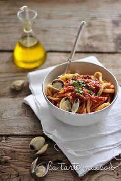 Pici con Vongale by latartemaison.it #Pasta #Shellfish