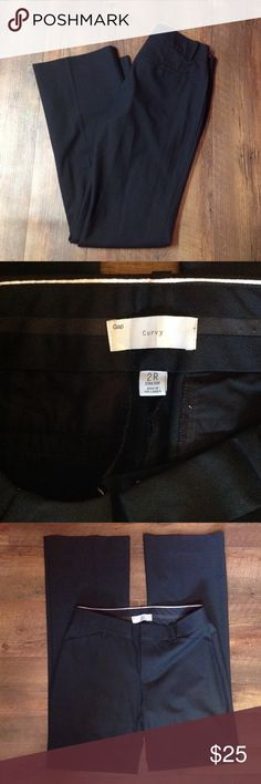 SALE🌟Black Gap pants Black curvy fit gap trousers size 2R. Worn maybe once! Great quality . 2 front functional pockets 2 back pockets just for looks. Make offer! Need to sell! GAP Pants Trousers