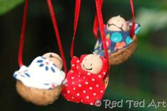 Walnut babies tree ornaments (I had one that was my favorite growing up!)
