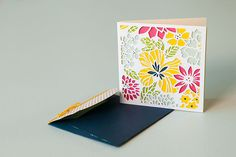 Florals are so beautiful, and Mom will LOVE this card on Mother's Day!