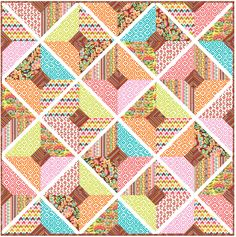 Boho Nuevo Quilt - Instructions Coming Soon - FREE SEWING & QUILT PATTERNS - GET INSPIRED