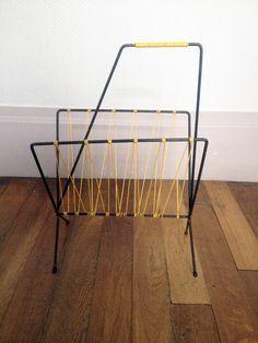 Porte revues Scoubidou jaune