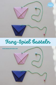 Craft a catch game out of paper - Origami İdeas Diy Origami, Origami Simple, Origami Tutorial, Origami Paper, Mickey Mouse Crafts, Mickey Minnie Mouse, Origami Butterfly, Origami Flowers, Papier Kind