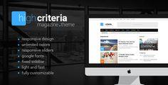 HighCriteria - Flat & Clean Magazine Theme