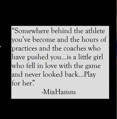 hamm soccer quotes inspirational~~ Someday when I'm getting Mary's senior sc.mia hamm soccer quotes inspirational~~ Someday when I'm getting Mary's senior sc. Sport Quotes, Girl Quotes, Me Quotes, Nascar Quotes, Rugby Memes, Qoutes, Track Quotes, Soccer Memes, Strong Quotes