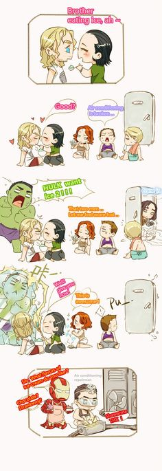 The Avengers in summer levineh.tumblr.com