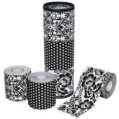 Designer toilet paper..... I'll keep my white toilet tissue..... Thank you!
