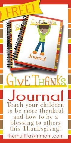 Free Printable Give Thanks Journal