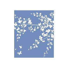 Oversize Flower Silhouettes Stencil ($140) ❤ liked on Polyvore featuring backgrounds, textures, flowers, art and floral