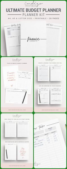 Ultimate budget planner printable finances money planner #budgeting #printable #affiliate #printableplanner