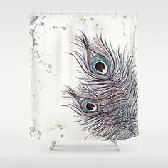 BOHO PEACOCK Shower Curtain by Monika Strigel - $68.00