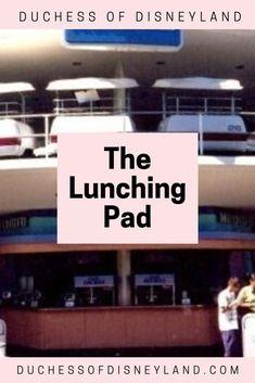 The Lunching Pad, Tomorrowland, Disneyland Disneyland Tomorrowland, Disneyland History, Throwback Thursday, Cinema, Movies, Movie Theater