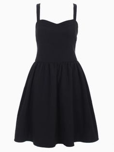Shop Cross Strappy Back Skater Dress in Black from choies.com .Free shipping Worldwide.