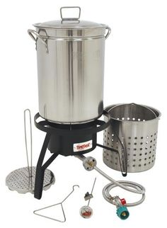 (click twice for updated pricing and more info) Bayou Classic Propane Turkey Fryer Kit - Burner and 32qt Stainless Steel pot #turkey_fryer_kit http://www.plainandsimpledeals.com/prod.php?node=35606=Bayou_Classic_Propane_Turkey_Fryer_Kit_-_Burner_and_32qt_Stainless_Steel_pot#