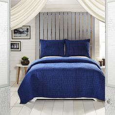 Rochelle Twilight Blue Quilt Queen Set