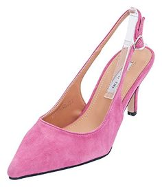 9ed20bf734cf6 AnnaKastle Womens Genuine Suede Leather Pointy Toe Slingback Heel Pumps ***  Check this awesome product by going to the link at the image.
