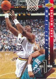 1993-1994 93-94 Upper Deck #AN 2 All-NBA Karl Malone ---> shipping is $0.01 !!!