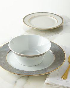 12-Piece Manhattan Dinnerware Service & 12-Piece Pink Basketweave Dinnerware Service | Dinnerware Kitchens ...