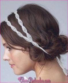 POPPY Double band Bridal Crystal and Rhinestone Beaded Headband or Halo Headband Hairstyles, Pretty Hairstyles, Wedding Hairstyles, Headband Updo, Lace Headbands, Summer Hairstyles, Messy Hairstyles, Hairstyle Ideas, Hair Ideas