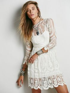 Gorgeous lace alternative wedding dress from free people, under $500!