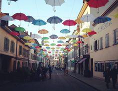 "50 Likes, 3 Comments - Sonja ☕ (@sonja_st) on Instagram: ""Under my Umbrella 🌂☂ #carouge #geneve #geneva #art #streetart #umbrella #switzerland…"""