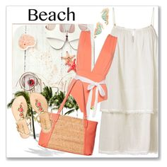Summer Date: The Beach by andrejae on Polyvore featuring polyvore fashion style Heidi Klein Lilly Pulitzer Jack Rogers Kate Spade clothing beach summerdate