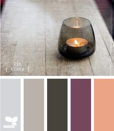 I think this is the final color scheme choice for our bedroom. Grey bedding with purple sheets and accessories in these colors!