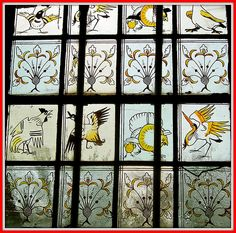 Red House (a Grade I Listed Building), Bexleyheath ~ Detail from one of the Stain Glass Windows in the Ground-Floor Corridor