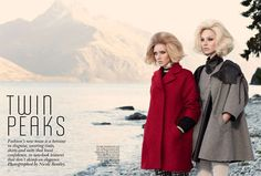 Twin Peaks I Vogue Australia I July 2011 I Models: Melissa Johannsen, Emilia Scuza I Photographer: Nicole Bentley.