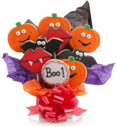 Halloween Cookie Bouquet.