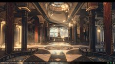 Temple of Utu - Polycount Throne Room Contest, Thiago Klafke on ArtStation at https://www.artstation.com/artwork/temple-of-utu-polycount-throne-room-contest
