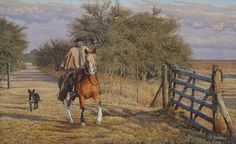 """""""Camino de talas"""" Rio Grande Do Sul, Cowboy Images, Hispanic American, Truck Memes, West Art, Country Art, Old West, Natural World, Places To Travel"""