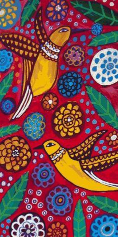 Hummingbirds Art Birds Folk Art Flower Poster Art of Painting Print Landscape- painted chairs Painting Prints, Art Prints, Paintings, Hummingbird Art, Creation Deco, Wow Art, Naive Art, Mexican Folk Art, Art Plastique