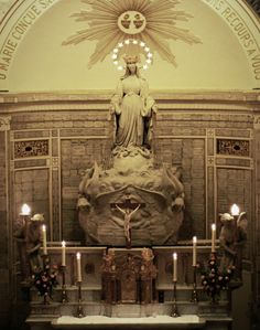 """allaboutmary:  """" The high altar in the chapel of the Miraculous Medal, Paris.  """""""
