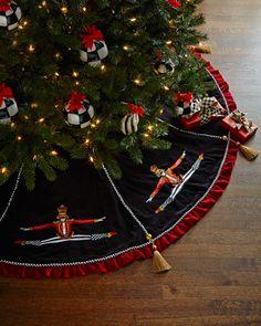 MacKenzie-Childs Nutcracker Christmas Tree Skirt