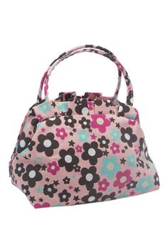 Floral Print Pink Holdall Bag    $20.99 #Romwe