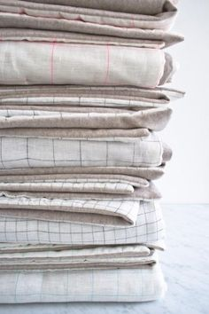 Lap Duvets in Linen Grid and Lana Cotta Canberra | Purl Soho - Create