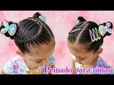 Lil Girl Hairstyles, Cat Ears, Kids Fashion, Hair Styles, Youtube, Girls, Up Dos, Braided Hairstyles For Short Hair, Hairstyles For Girls