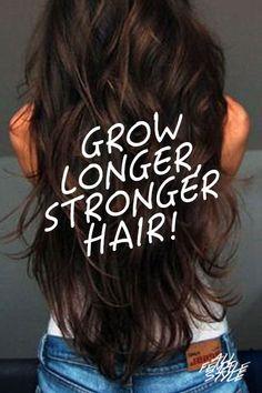 Learn Rebecca Lynn's Latest Secret for Longer, Stronger Hair Here -> http://allfemalestyle.com/longer-stronger-is-now-possible-pinterest-exclusive-pin03/